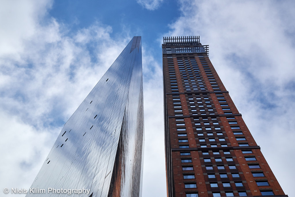 Two skyscrapers close together